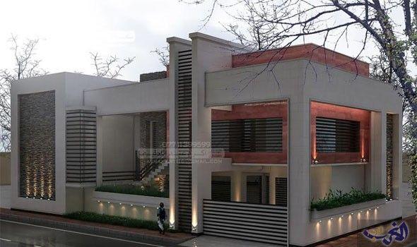 شكل جديد لتصاميم واجهات المنازل الحديثة في العراق لعام 2017 Modern House Design House Design Modern House