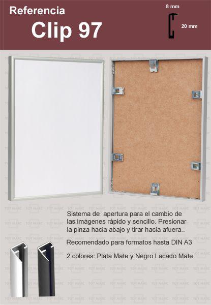 Marcos de Aluminio: CLIP 97   Tot Marc   Pinterest   Marcos de ...