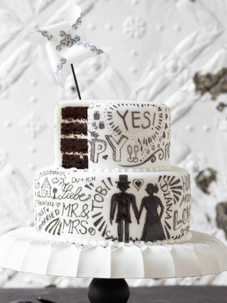 Hochzeitstorte Chocolate And Cream Rezept Backen Pinterest