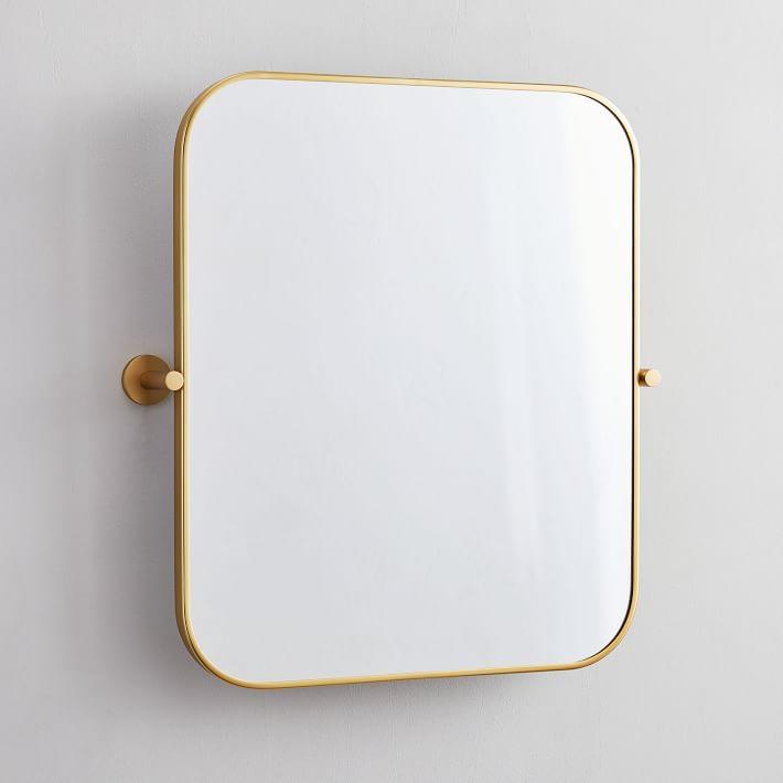 Metal Frame Pivot Wall Mirror In 2020 Mirror Wall Framed Mirror