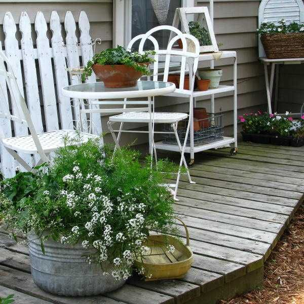 shabby chic patio garden outdoor furniture charming shabby chic decorating ideas blending patio and pots