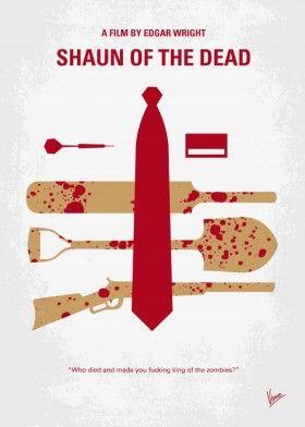 minimal minimalism minimalist movie poster chungkong film artwork design shaun of the dead