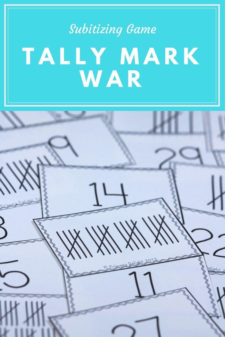 Tally Mark War (A Number Sense Game) | Magical Math K-2 | Pinterest ...