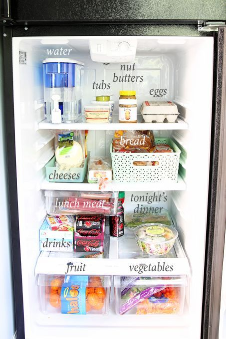 How To Organize A Small Refrigerator Just A Girl And Her Blog Small Fridge Organization Small Refrigerator Organization Small Refrigerator