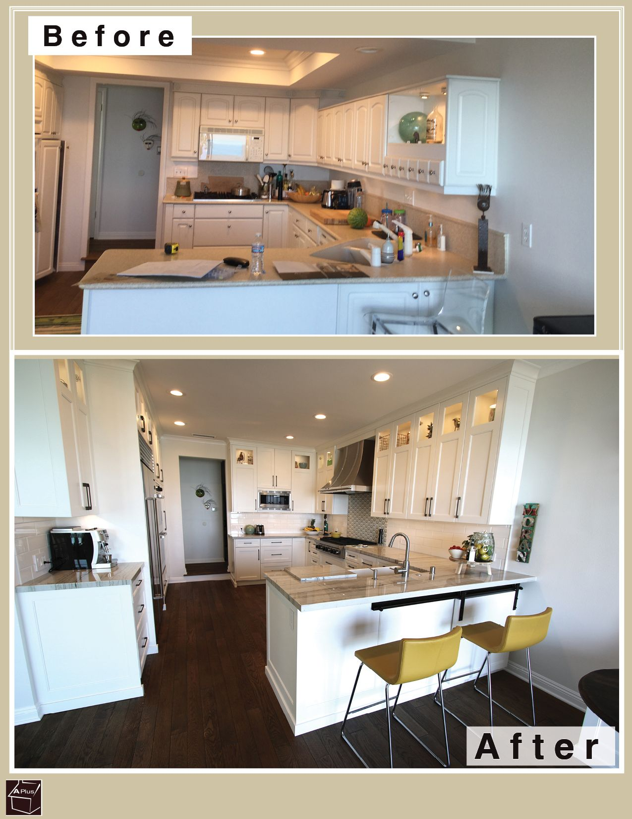 Check Out This Just Finished Ocean View Custom Transitional White Kitchen  Remodel In City Of San