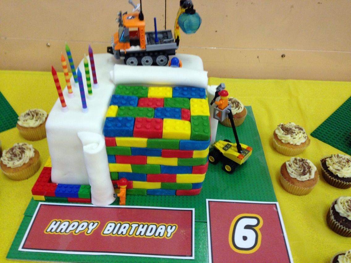 Prime Lego Themed Birthday Cake For Boys 6Th Birthday Party In Funny Birthday Cards Online Fluifree Goldxyz