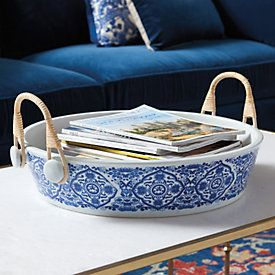 Dayna Stools Now Blue White Chinoiserie Planter