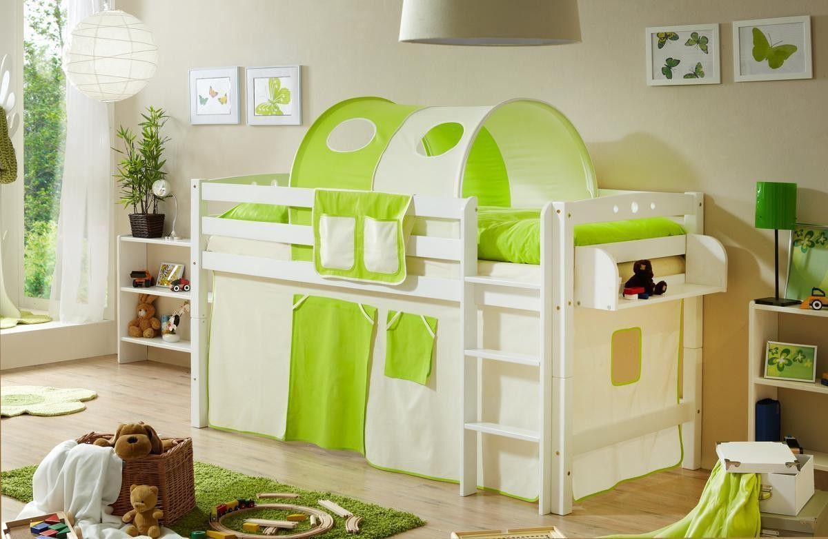 Ticaa Hochbett Timmy R Buche massiv weiß beige-grün Jetzt bestellen unter: https://moebel.ladendirekt.de/kinderzimmer/betten/hochbetten/?uid=75318104-6af6-5397-811f-8eb6402c3ef5&utm_source=pinterest&utm_medium=pin&utm_campaign=boards #möbel #kinderzimmer #einrichtung #hochbetten #baby #betten