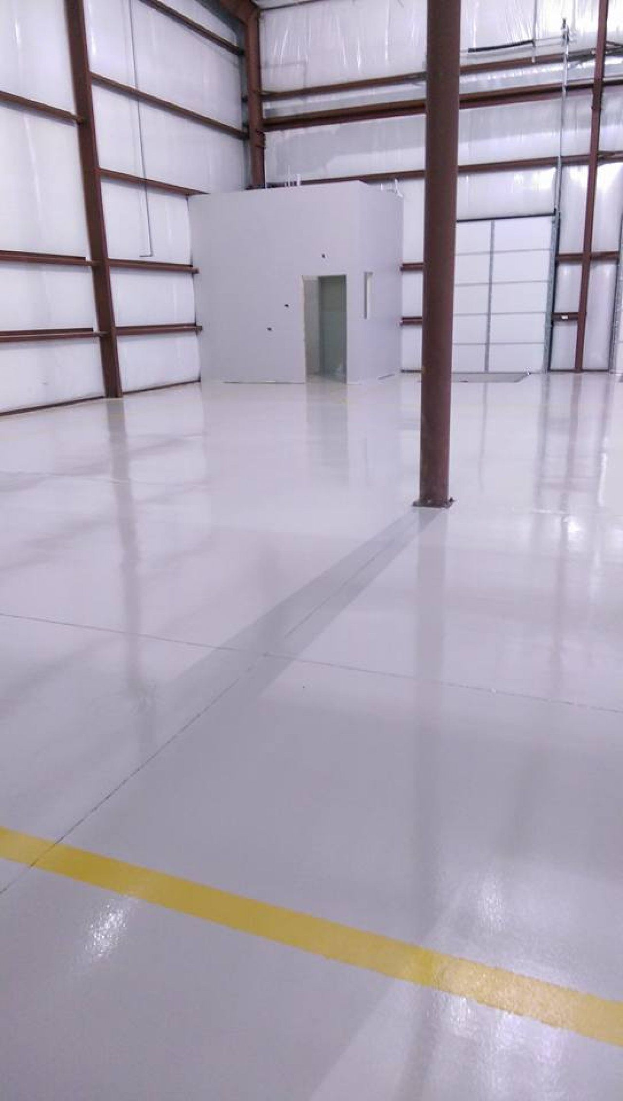 123 Resinous Epoxy Floor In Factory Des Moines Iowa