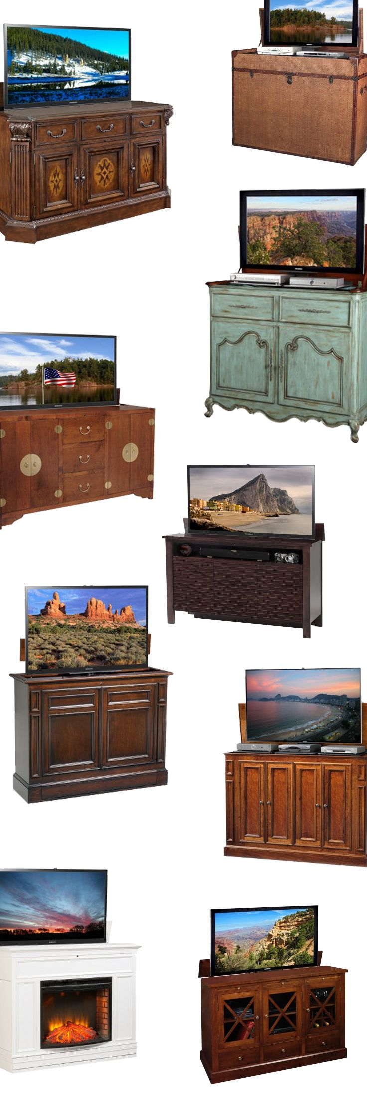 TV Cabinet Ideas. We have the mother-load of all TV Lift ...
