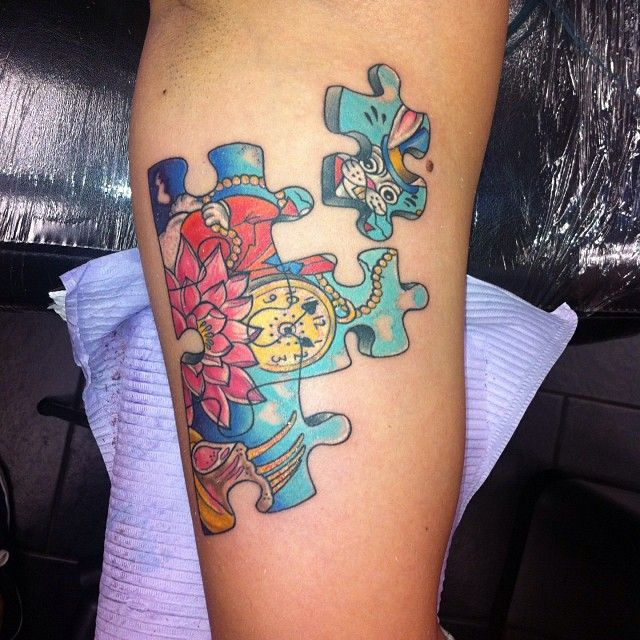 55 Unique Exclusive Puzzle Pieces Tattoos For Men & Women