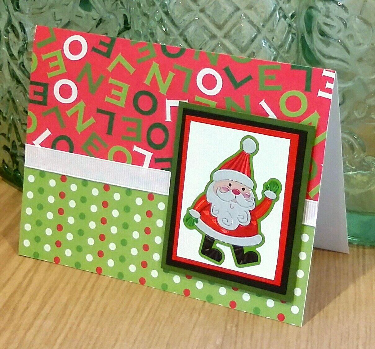 Christmas Notecard.Christmas Notecard Santa Notecard Holiday Note Cards Blank