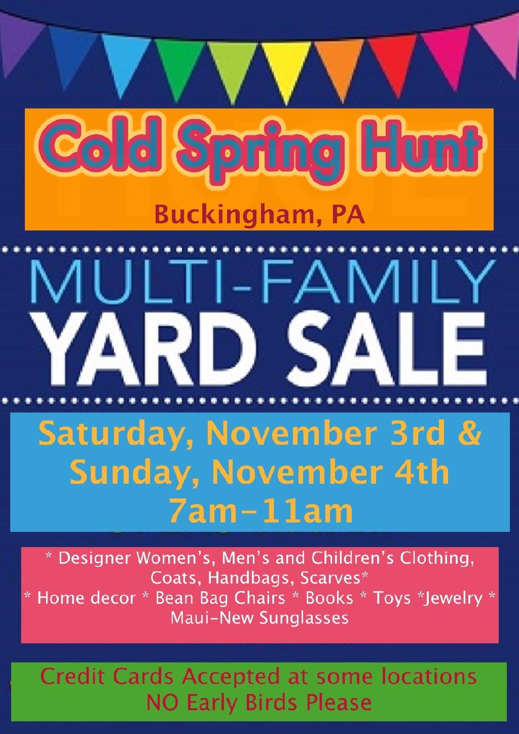 Multi Family Garage Sale Multi Credit Cards Accepted Sale