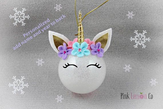 personalized unicorn ornament unicorn christmas ornament personalized christmas tree decorationcustomized christmas ornamentpersonalized unicorn - Unicorn Christmas Decorations