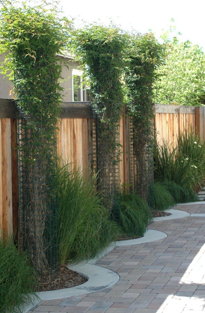 gartenwege gestalten gartenzaun dekorieren | backyard | pinterest, Gartengestaltung