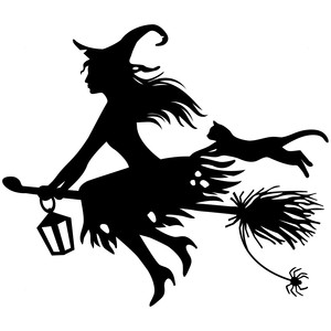 Silhouette Design Store Flying Witch Witch Silhouette Halloween Silhouettes Halloween Stencils