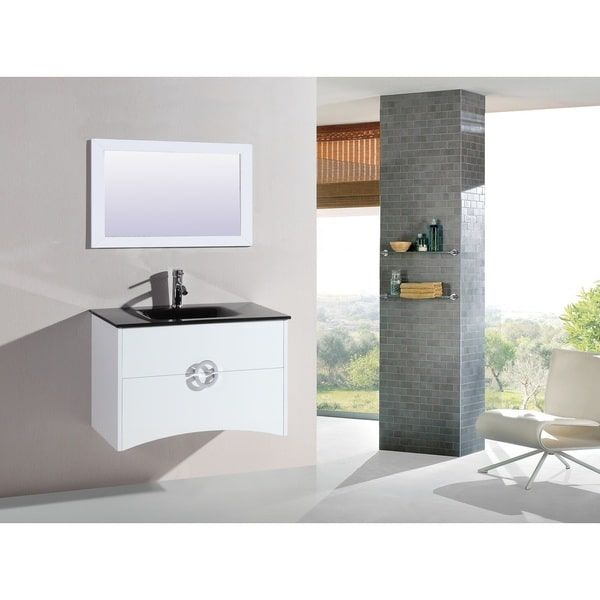 Legion Furniture 32-inch White Wall-mount Bathroom Vanity with