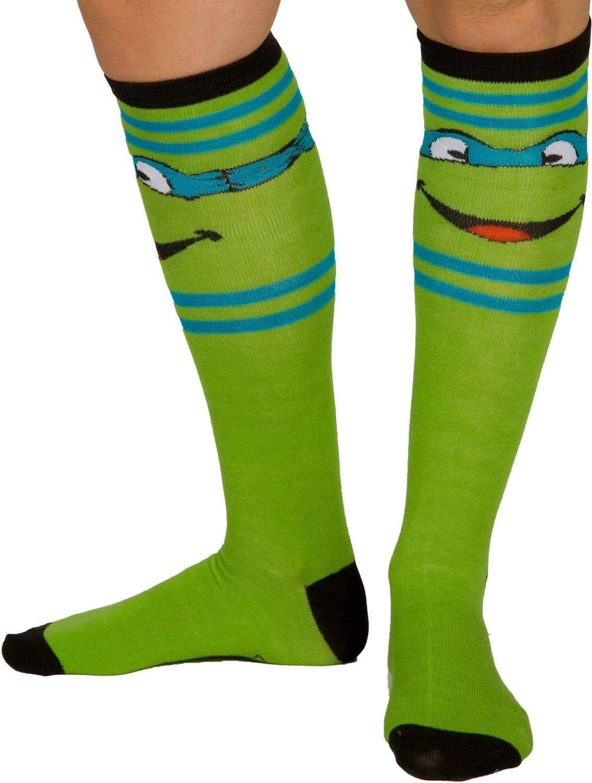 d712cb5f6 Leonardo TMNT Knee High Socks