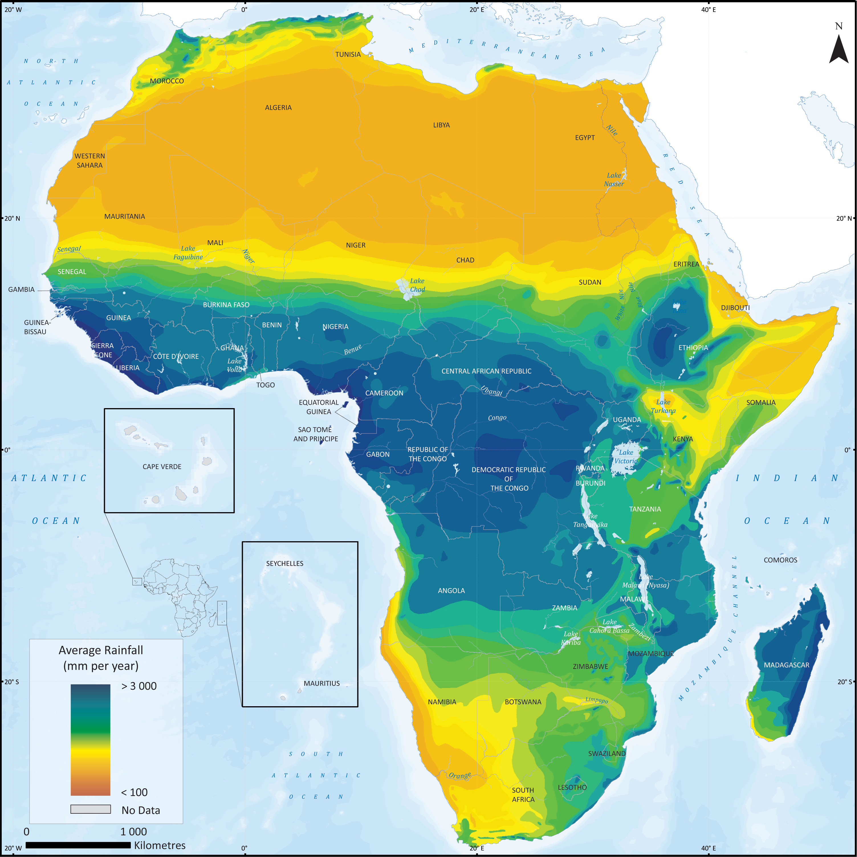 Rainfall in Africa | Maps | Africa map, Africa, African map