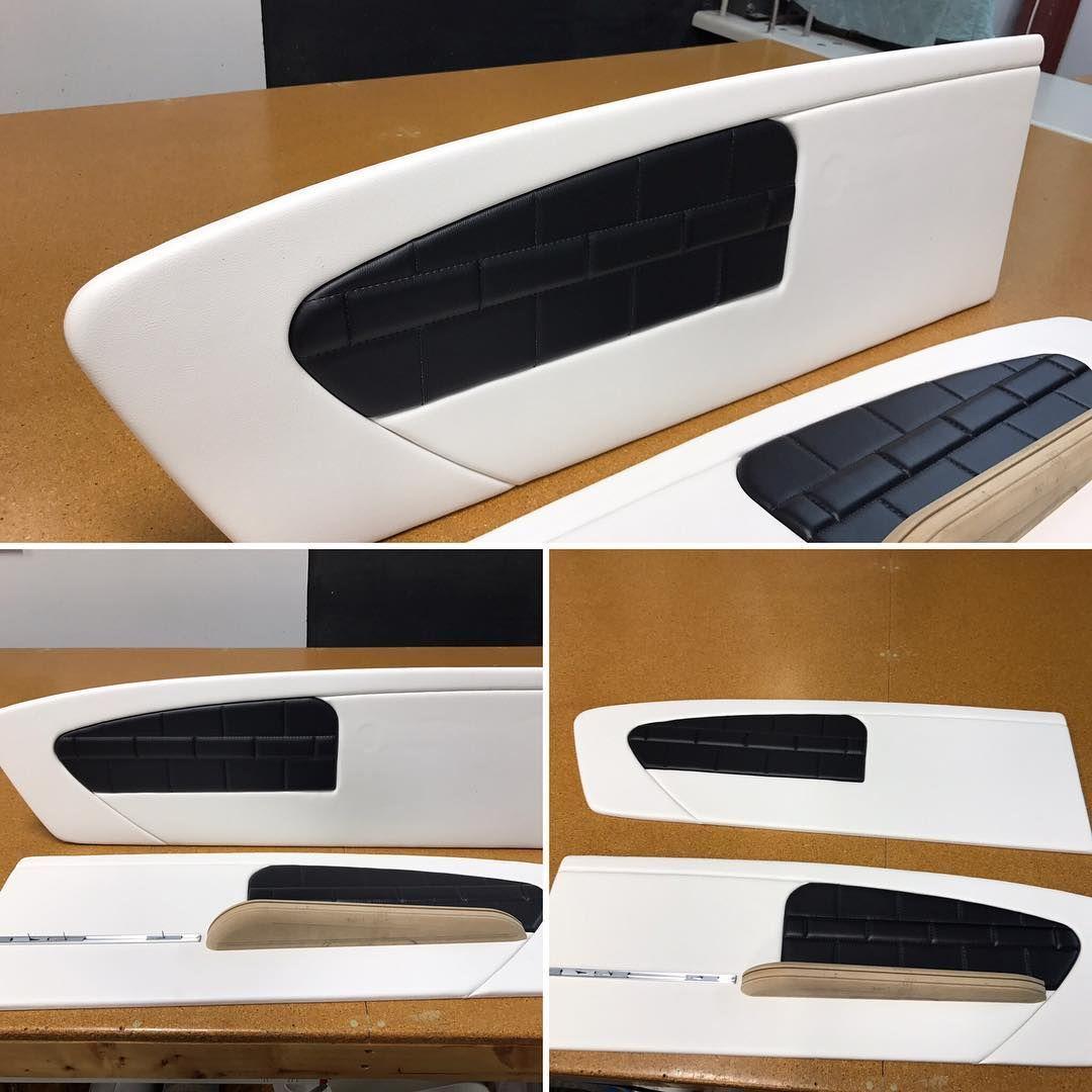 Custom Mustang Door Panels In Progress Hand Crafted Custom Stitch Black And White Custom Van Interior Street Rod Interior Mustang Interior