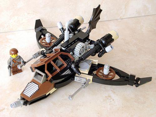 Lego Steampunk fighter 1 by Viorel Birsan, via Flickr