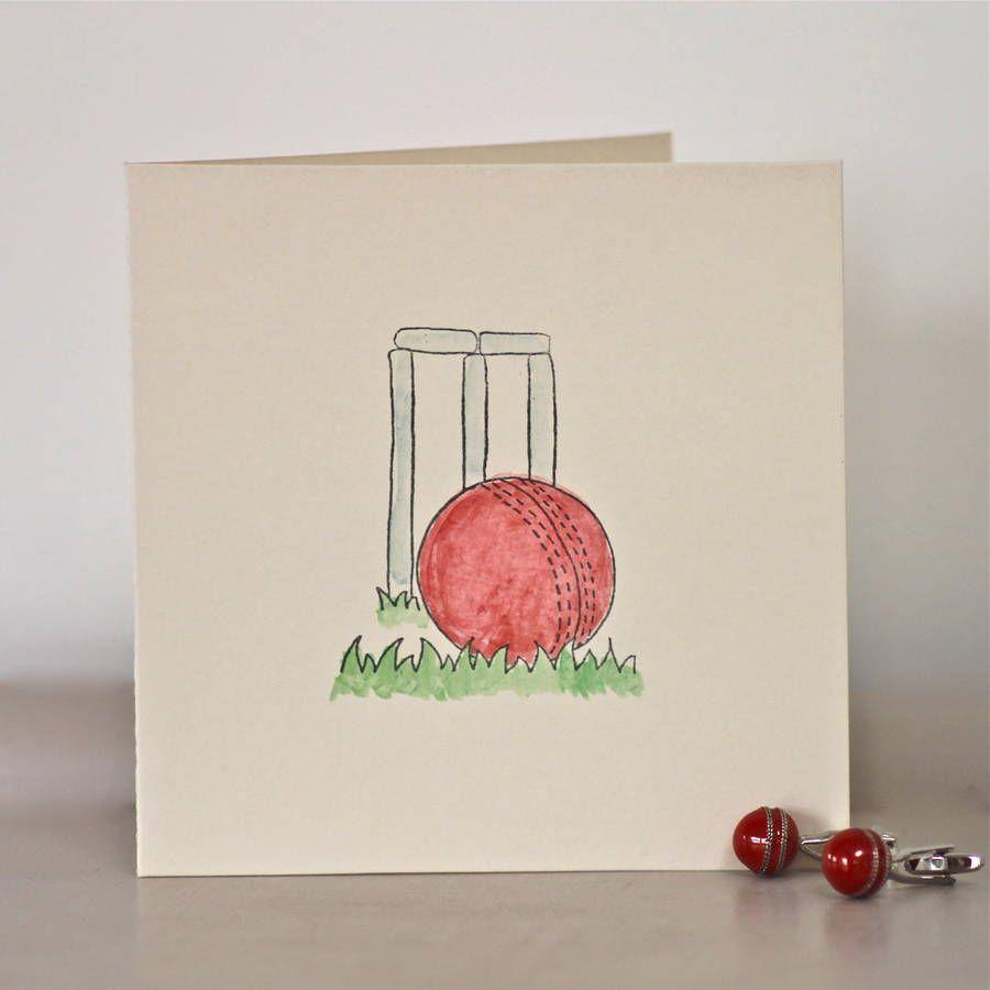 Handmade Cricket Birthday Card In 2021 Cards Birthday Cards Dad Birthday Card