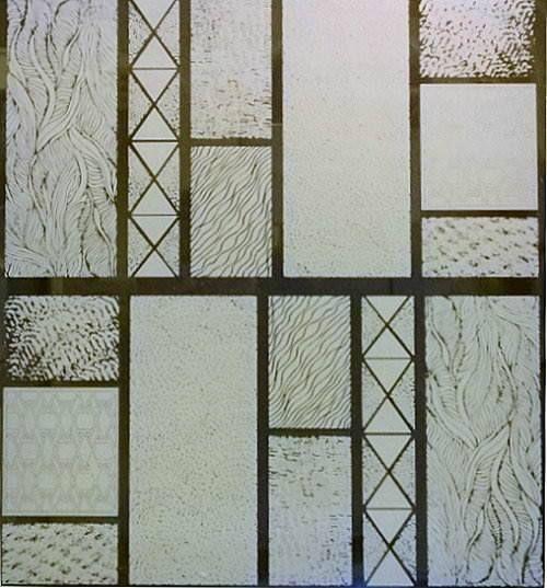 Textured Glass Static Cling Window Film Front Door