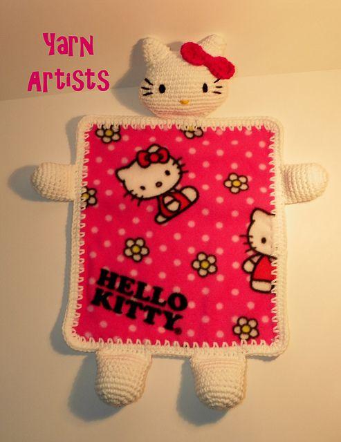 5eb6ad4b5 Ravelry: Little Kitty Lovey Blanket (Hello Kitty Inspired) Pattern pattern  by Yarn Artists