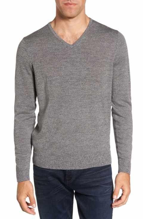 df9b0a4168f4 Nordstrom Men s Shop V-Neck Merino Wool Sweater (Regular   Tall ...
