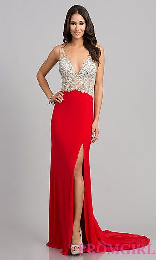 Sleeveless Evening Gown with Open Back JVN by Jovani | Fashion ...