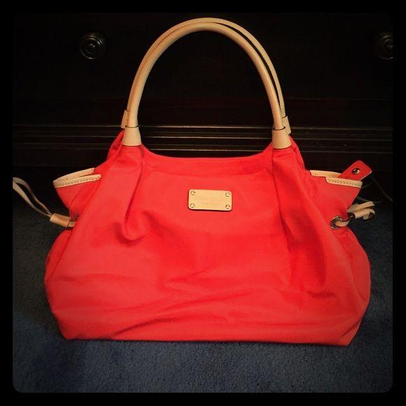 Bright orange Kate spade purse Bright orange Kate Spade purse. Barely used! kate spade Bags Shoulder Bags