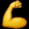 Flexed Biceps Emoji Biceps Bicep Muscle Flex