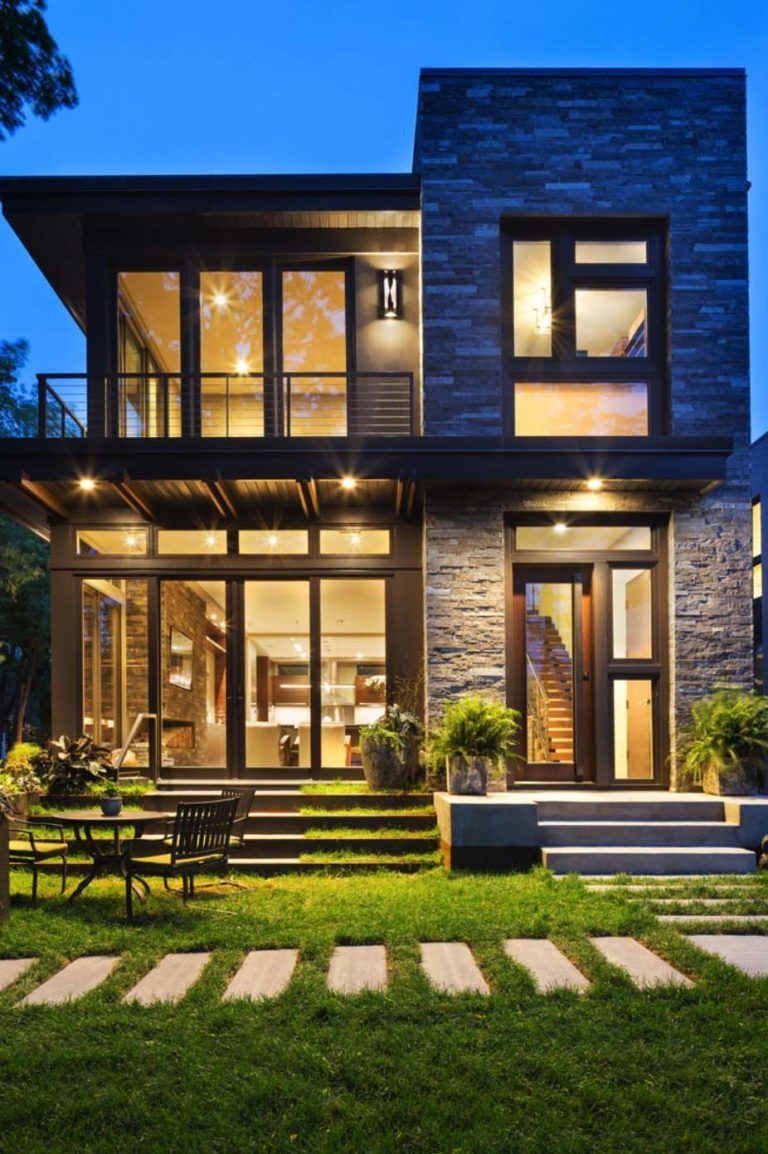 20 Unbelievably Beautiful Contemporary Home Exterior Designs: Idyllic Contemporary Residence With Privileged Views Of Lake Calhoun