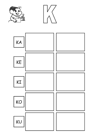 atividade letra ka ke ki ko ku - Pesquisa Google