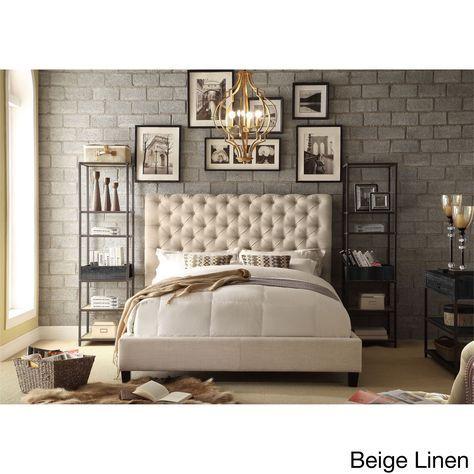 Moser Bay Furniture Calia Tufted Upholstered Platform Bed (Beige ...