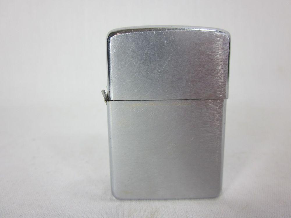 Vintage Zippo Lighter 1969 Brushed Chrome Zippo Chrome Lights Zippo Chrome