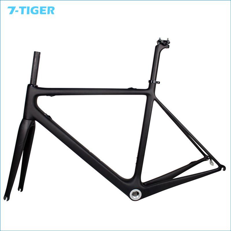 7-TIGER FM-R685 UD Carbon Matt Road Bike Frame + Fork+Seatpost+ ...