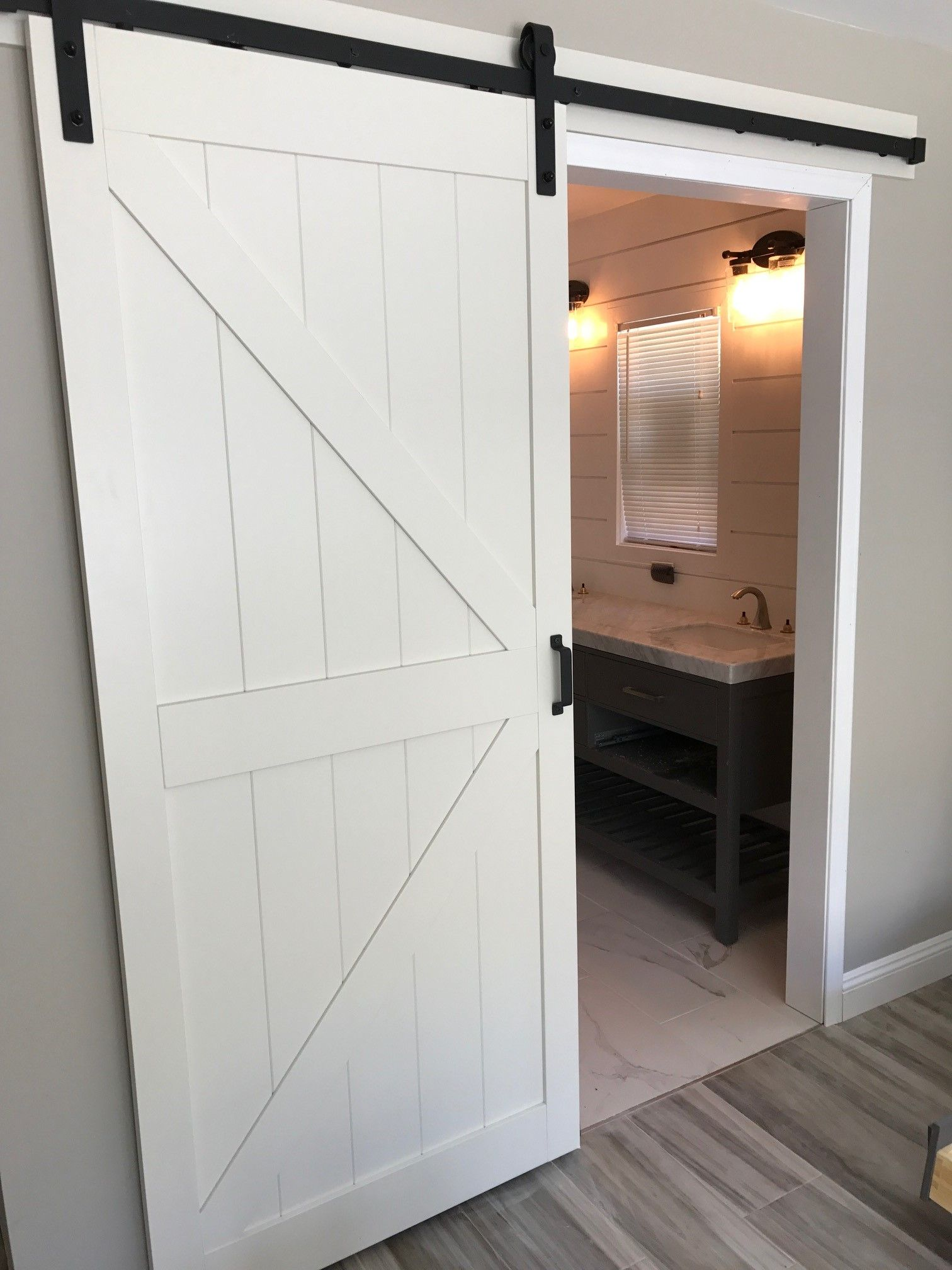 Bathroom Remodeling Orange County Exterior barn door in master will give you the cozy space you're looking