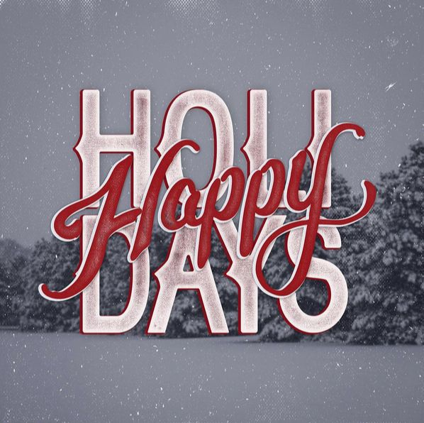 Happy Holidays Inspiration: Hand Lettering Tutorial, Lettering