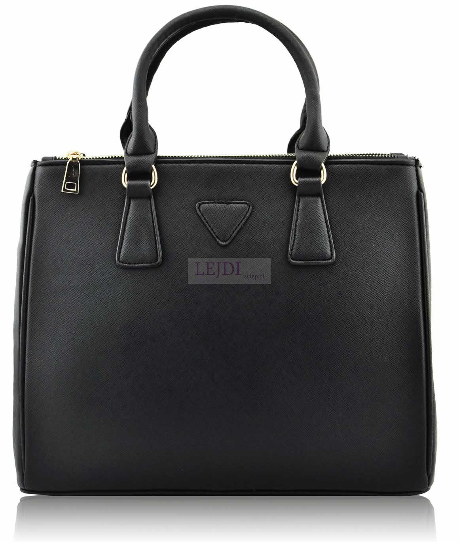 74eef42cb8b99 Duża angielska torebka kuferek Mini Saffiano Lux Tote Bag - czarna, noszona  przez Kerry Washington, Miranda Kerr, Candice Swanepoel, Rihanna, Lindsay  Lohan.