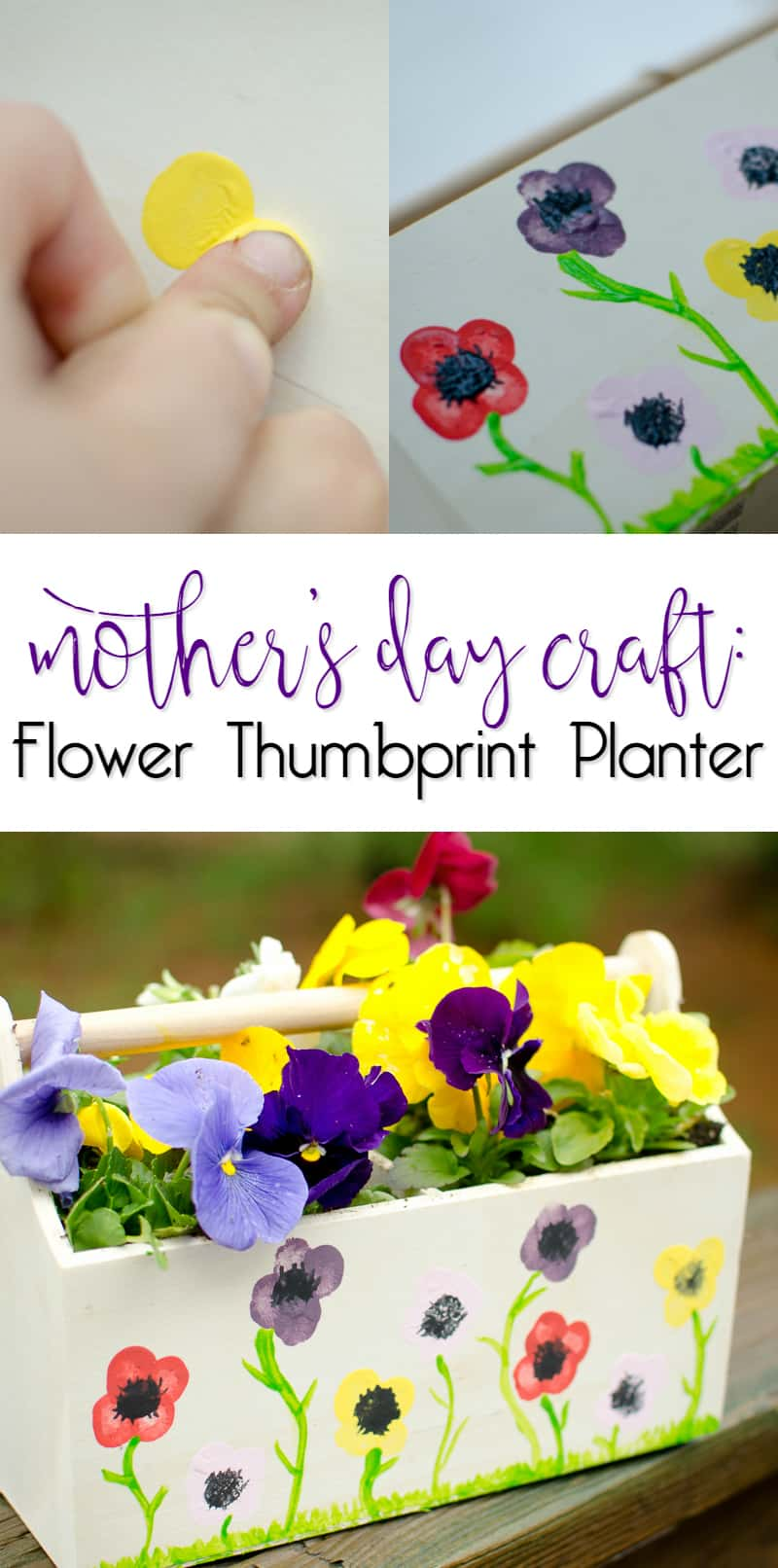 Mother's Day Craft – Flower Thumbprint Planter