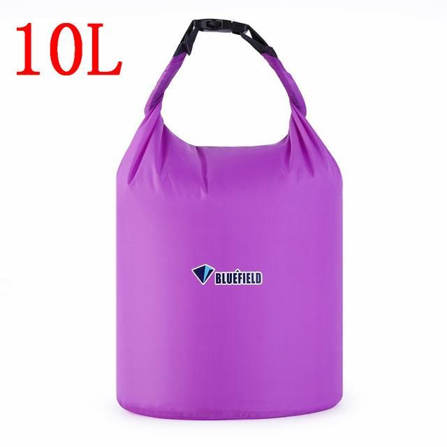 4cd87f4022f Bluefield 5 Color 10L 20L Outdoor swimming Waterproof Bag Camping Rafting  Storage Dry Bag with Adjustable Strap Hook