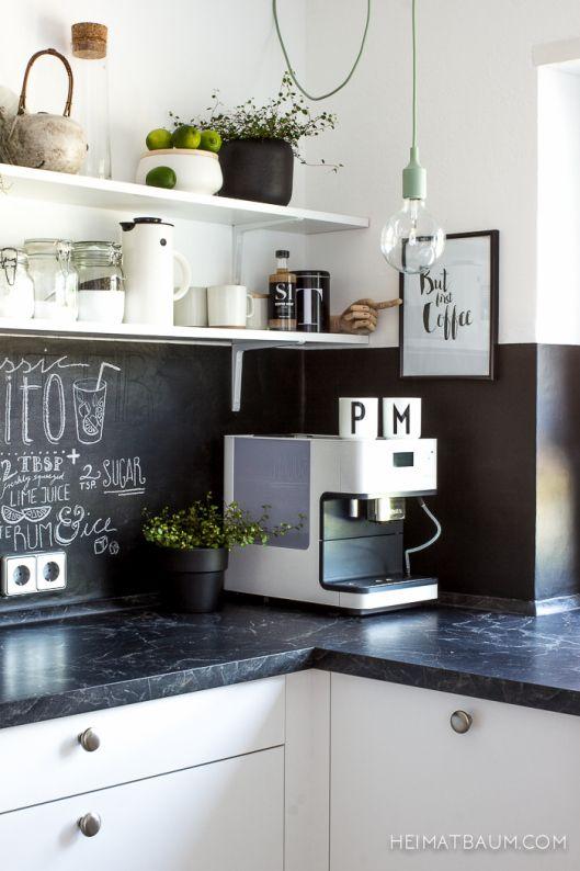 Tafellack in der Küche Jane Pinterest Cocinas, Pizarra de - küchen von poco