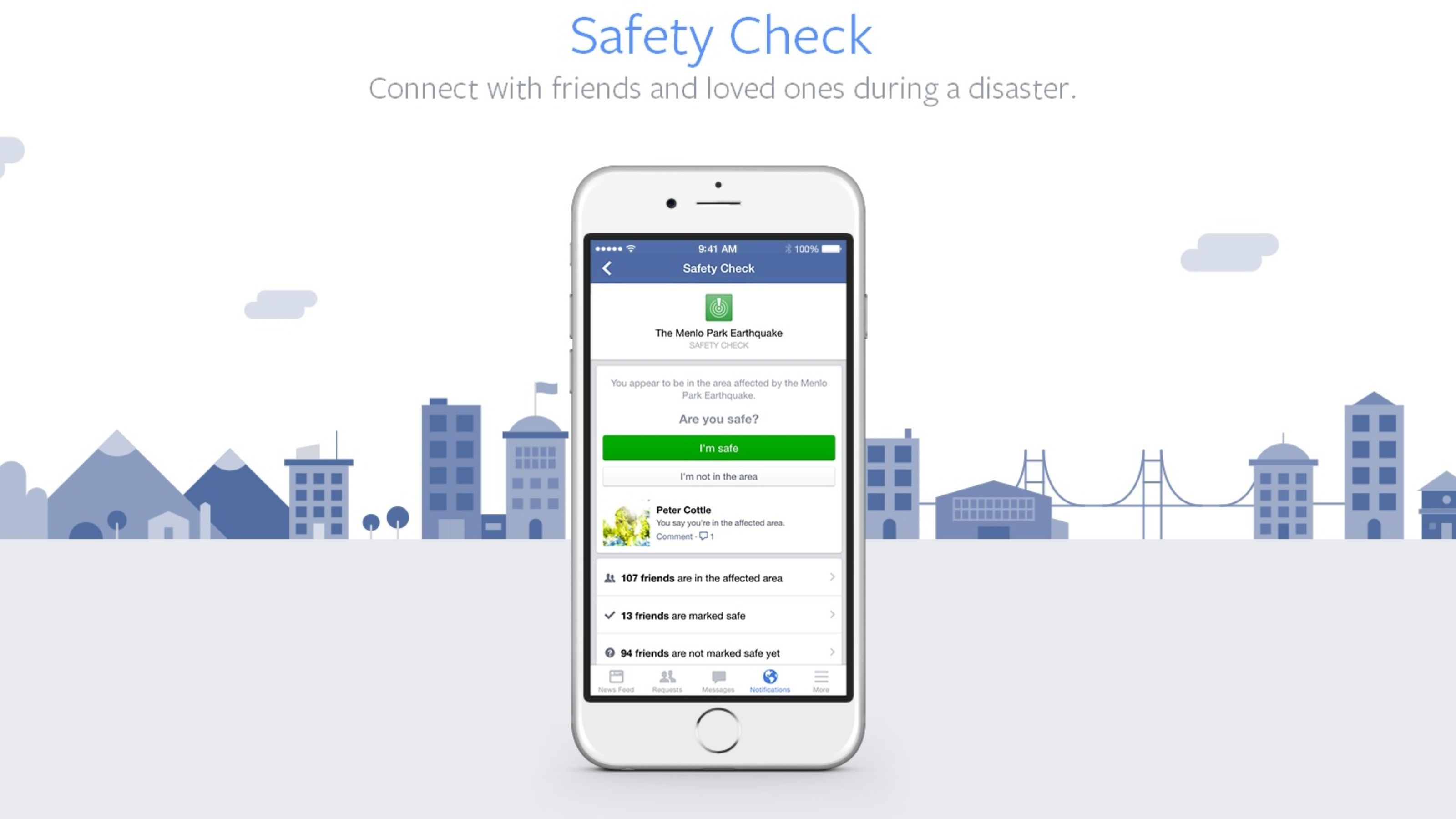 Facebook 'Safety Check' helps during natural disasters