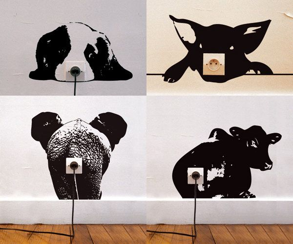 Delicieux 20+ Creative Wall Outlet Stickers And Covers For Your Inspiration