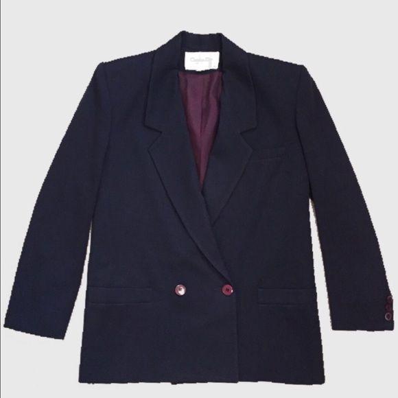 Christian Dior, The suit, vintage blazer Dark blue vintage Dior blazer Dior Jackets & Coats Blazers