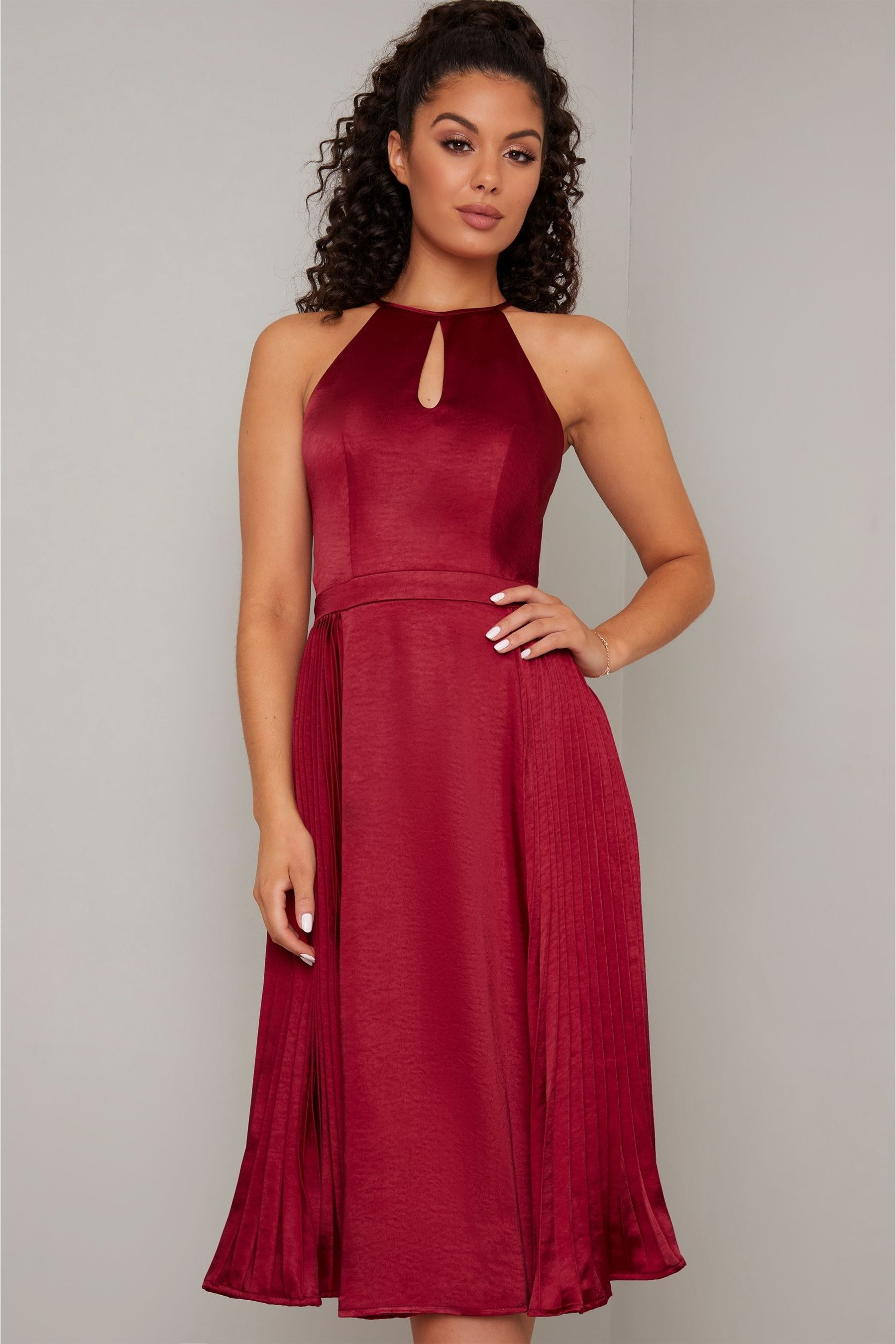 Buy Chi Chi London Amee Dress From The Next Uk Online Shop Dresses Pleated Midi Dress Casual Summer Dresses