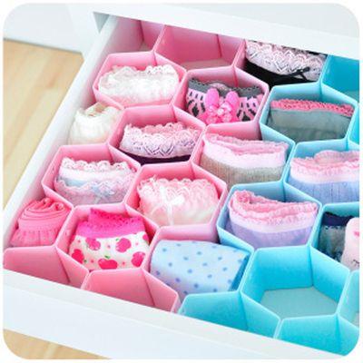 Nc diy divisor de caj n para calcetines ropa interior organizador cajas de almacenamiento tidy - Organizador de ropa interior ...