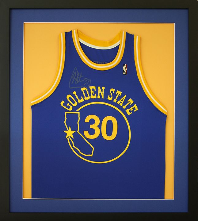 Custom Framed Golden State Warriors Basketball Jersey Designed And