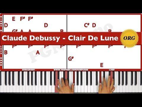 Original How To Play Clair De Lune Debussy Piano Tutorial